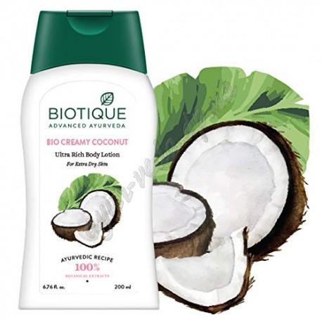 Лосьон для тіла Біо Крем-Кокос Біотик 200 мл, Biotique Bio Creamy Coconut Ultra Rich Body Lotion, Био Крем-Кокос Биотик,