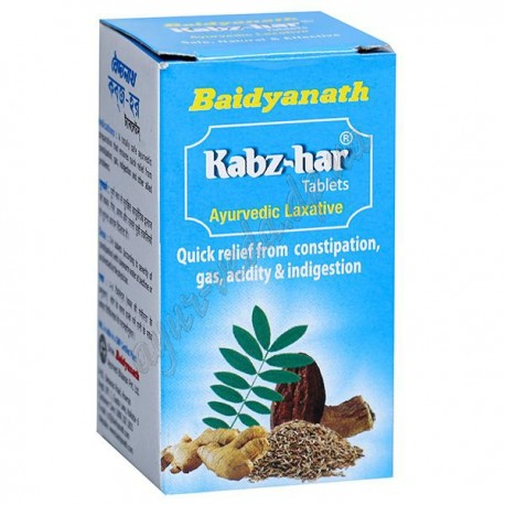Кабджахар 10 таб., Kabz-har (Kabjahar) аюрведическое слабительное, Baidyanath, Байдьянатх