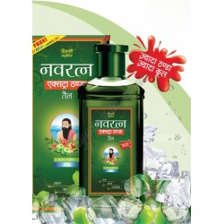 Масло Навратна Зеленое, Navratna Oil Extrathanda для головы и волос, 100мл