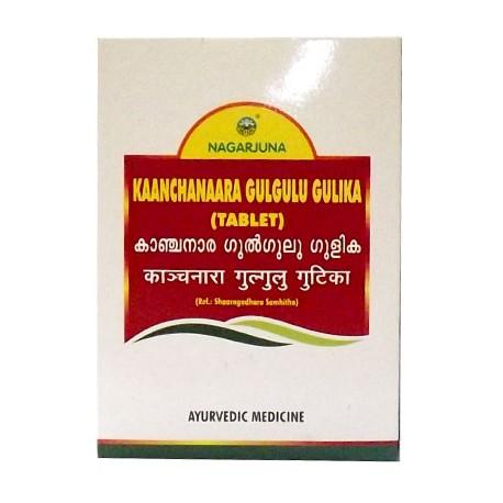 Канчнар гуггул, 100 таб. Нагарджуна, Kaanchanaara Gulgulu Gulika Nagarjuna, Аюрведа GAURI,
