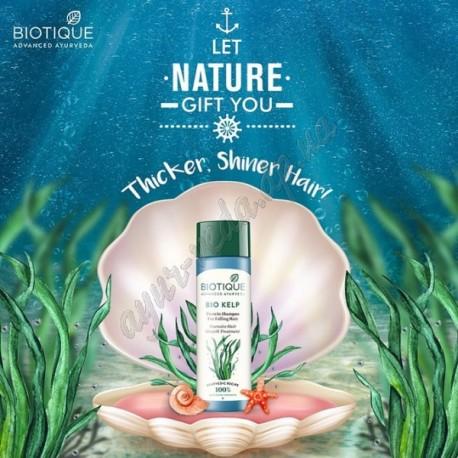 Шампунь Біо Келп, Біотік, 400 мл, Biotique Bio Kelp shampoo, Шампунь Био Келп, Биотик, стимулюючий зростання волосся, Аюрведа,