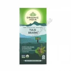 Чай Тулси Брахми, 25 пакетов, Органик Индия, Базилик - Брахми, Tulsi-Brahmi, Organic India.