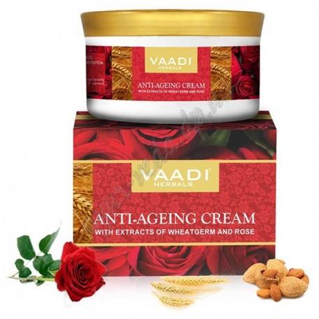 Крем от морщин с Миндалём и Зародышами Пшеницы Ваади, Vaadi Herbals Under Eye Cream with Almond Oil