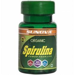 Спіруліна Органік 60 кап. Сунова, Sunova Organic Spirulina, Спирулина Органик, Аюрведа