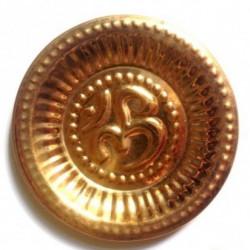 Тарелочка для Пудж с Омкарой диаметр 11 см, Puja Plate