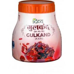 Джем Гульканд из Лепестков Роз, Патанджали, розовые пресервы Gulkand Sun-cooked Rose preserve Patanjali, 400грамм