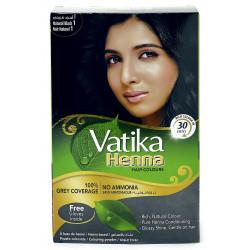 Краска Dabur VATIKA Naturals Чёрная для волос на основе натуральной Хны