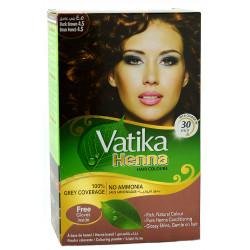 Краска Dabur VATIKA Naturals Тёмно Коричневая для волос на основе натуральной Хны