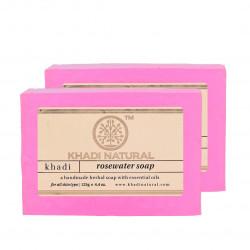 Мыло Кхади Роза, Khadi Herbal Rose Soap, Аюрведа