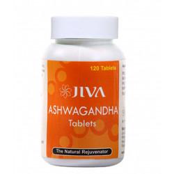 Ашвагандха, 120 таб., Джива Аюрведа, Ashvagandha Jiva Ayurveda, востановит силы, вернёт бодрость