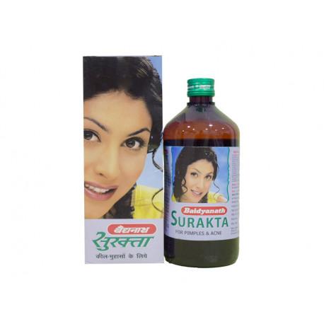 Суракта сироп Байдьянатх 400мл, Surakta syrup Baidyanath, очищение крови, выведение токсинов, Аюрведа