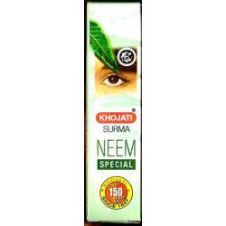 Каджал в порошке с Нимом, Сурьма, Кохль, Кайал, Kohl, Kajal Khojati Surma Neem