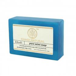 Мыло Кхади Мята, Herbal Mint Soap, Khadi