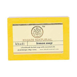 Мыло Кхади Лимон, натуральное, Herbal Lemon Soap, Khadi, 115-125грамм
