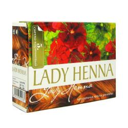 Краска Светло - Коричневая, Леди Хенна на основе Хны для волос, Lady Henna 6пакетов по 10грамм