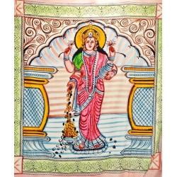 """Покрывало """"Богиня - Шри Лакшми"""", цветное"""
