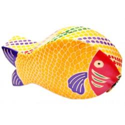 """Копилка кожаная """" Рыба"""", жёлтая"""