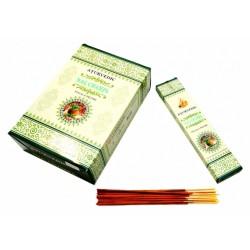 Благовония натуральные Наг Чампа, Nag Champa Ayurvedic, 20 грамм упаковка