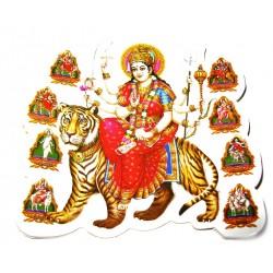 Стикер-наклейка Защитница Шри Дурга, Индуистские божества №34