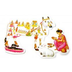 Наклейка Священная Корова Шри Камадхену, Индийские Божества
