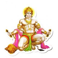 Наклейка Шри Хануман - Царь обезьян Сын Бога Ветра, Индийские Божества