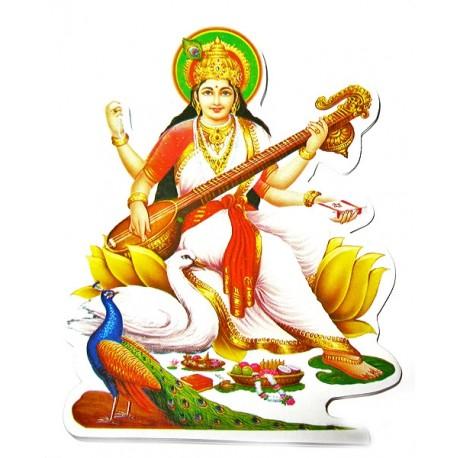 Наклейка Богиня искуств Шри Сарасвати, Индийские Божества