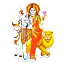 Наклейка Шри Шива Парвати, Индийские Божества