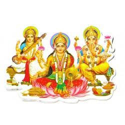 Наклейка Шри Лакшми, Шри Сарасвати, Шри Ганеша, Индийские Божества
