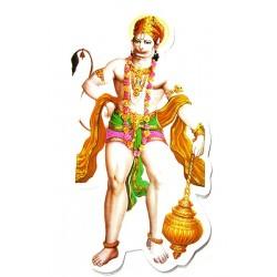 Наклейка Шри Хануман - Царь обезьян, Индийские Божества