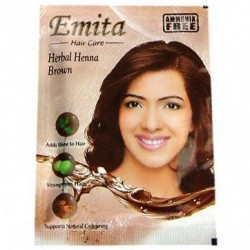 Краска для волос на основе Хны «ЭМИТА» травяная стойкая без аммиака, EMITA