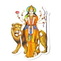 Наклейка Богиня защитница Шри Дурга, Индийские Божества