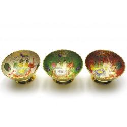 """Фруктовница бронзовая цветная, Fruit Bowl 6""""Elephant"""
