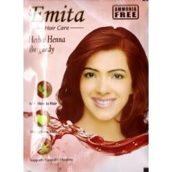 Краска для волос на основе Хны Бургунди «ЭМИТА» травяная стойкая без аммиака, Burgundy EMITA