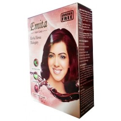 Краска для волос на основе Хны Коричневая «ЭМИТА» травяная стойкая без аммиака, Broun EMITA
