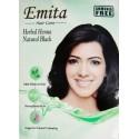 Краска для волос на основе Хны Чёрная «ЭМИТА» травяная стойкая без аммиака, Black EMITA