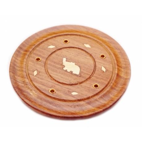 Подставка под аромапалочки деревянная Круглая на пять палочек
