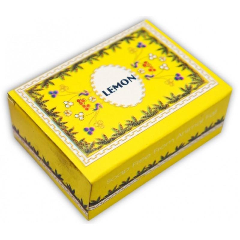 Мыло лемон, lemon madhuban без животных жиров, 75 грамм - аюрведа, аюрведическая косметика из индии.