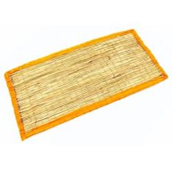 Коврик - циновка для медитации из травы Куша, Kusha Asan, Оранжевый кант