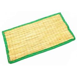 Коврик для медитации из травы Куша, Kusha Asan, Зелёный кант