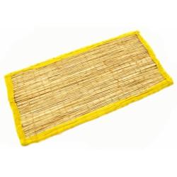 Коврик для медитации из травы Куша, Kusha Asan, Жёлтый кант