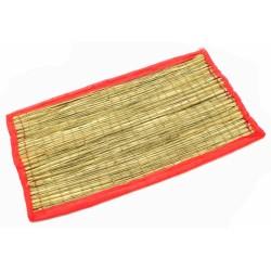Коврик для медитации из травы Куша, Kusha Asan, Розовый кант