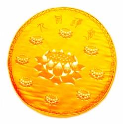 Подушка для Медитации с Лотосом жёлтая