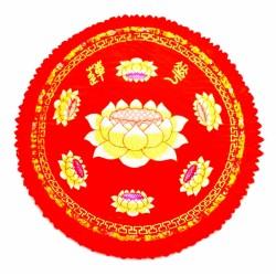Подушка для Медитации с Лотосом большая красная