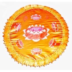 Подушка для Медитации с Лотосом большая жёлтая