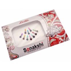 """Комплект наклеек на лицо или на ногти Бинди, """"Sonakshi Bindi"""" №49"""