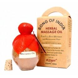 Массажное-ароматическое масло Сандаловое, для волос и загара Песня Индии, Precious Sandal Song of India 100 мл