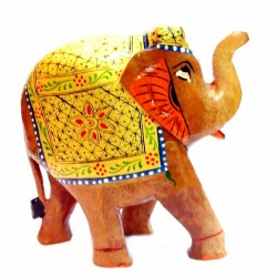 """Слон деревянный стиль """"хохлома"""" кедр С5632-6"""""""