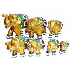 Набор 7 акриловых слоников TL541 Золотой