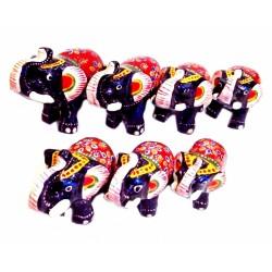Набор 7 акриловых слоников С6082 Синий