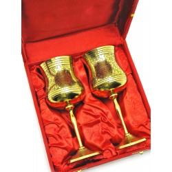 """Бокалы бронзовые, позолоченные Индийские набор 2 шт/250мл. Goblet 9""""Set -2ps GOLD"""